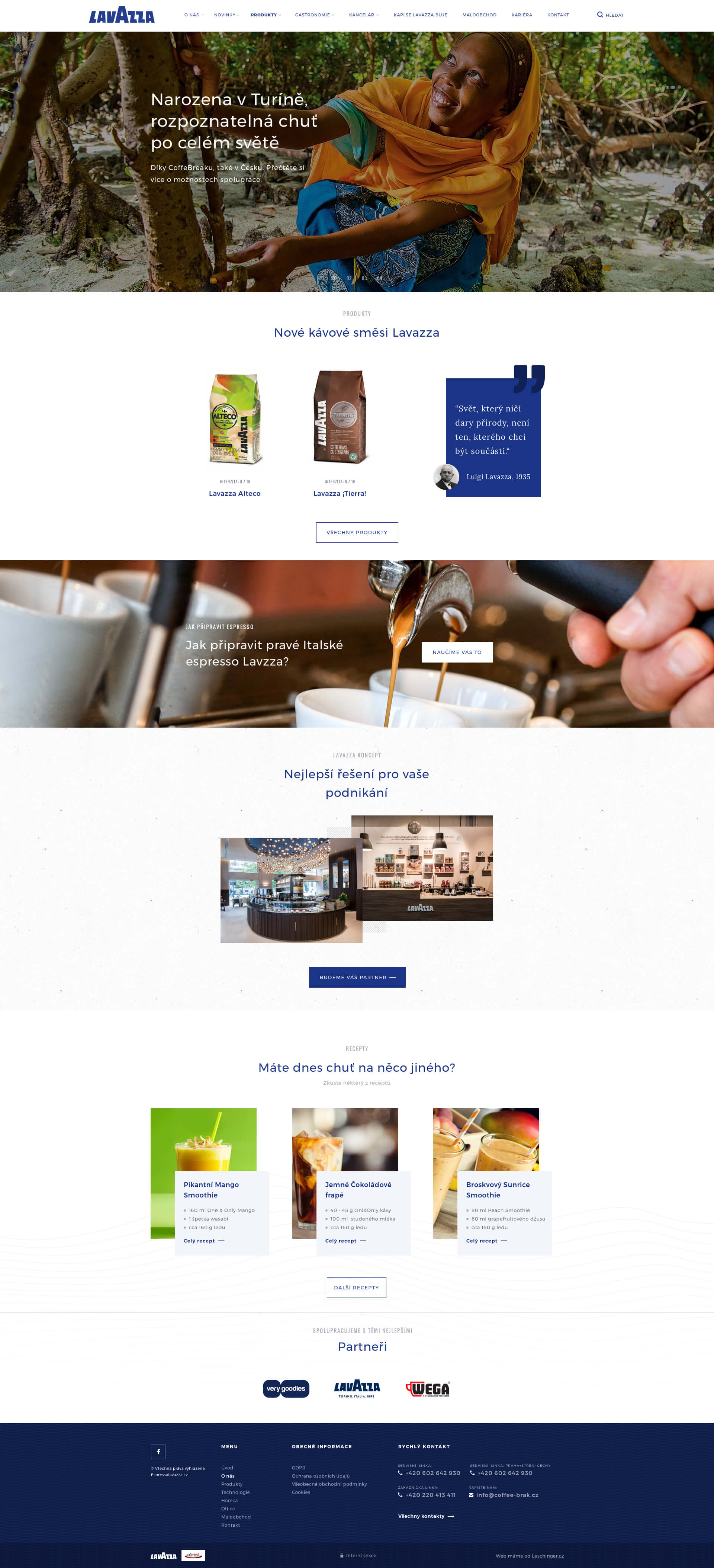 Tvorba Wordpress webu na míru pro Lavazza